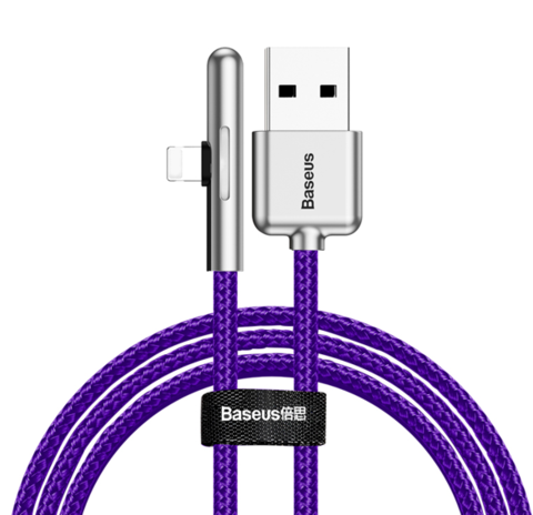 Кабель Baseus Iridescent Lamp Mobile Game Cable USB For iP 1.5A 2m Purple