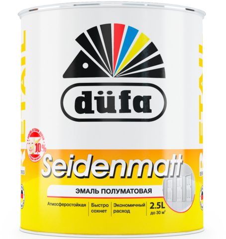 Dufa Retail SEIDENMATT/Дюфа Ритейл Зейденмат эмаль полуматовая белая