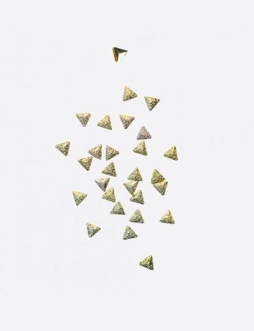 ARTEX Полусферы треугольные граненные шлифованные золото 2х2 мм