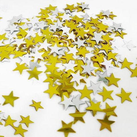 Конфетти Звезды, Белый / Золото / Серебро, 17 гр