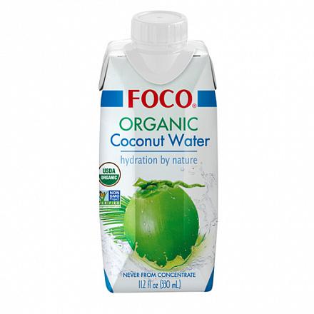 Кокосовая вода 100% органическая без сахара FOCO, 330 мл