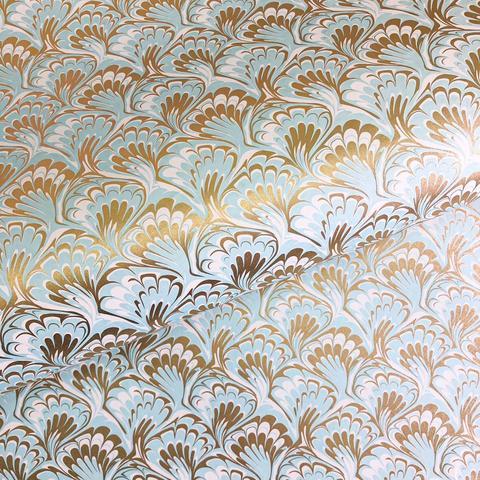 Бумага декоративная упаковочная Мраморная голубая