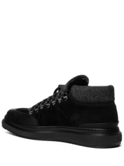 Замшевые ботинки Luca Guerrini 9291 черные на меху