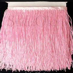 Купить оптом бахрому из стекляруса розовую Pink AB