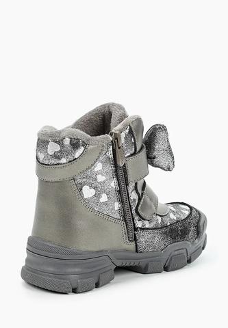 Ботинки зимние серые с бантиком (27-32) Сказка (ТОК Урал)
