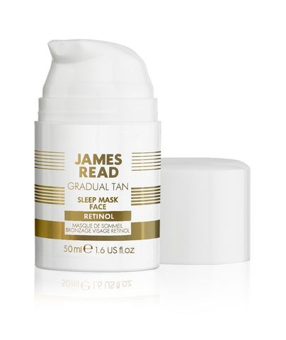 Ночная маска для лица уход и загар с ретинолом  James Read Sleep Mask Face Tan with Retinol