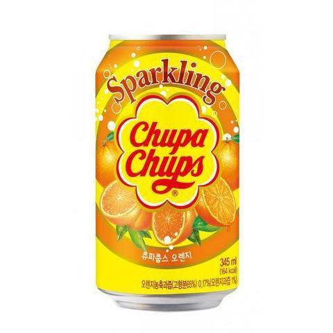 Газированный напиток Chupa Chups Orange со вкусом апельсина, 345 мл