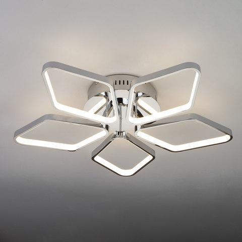 Светодиодный потолочный светильник EUROSVET 90081/5 хром без Пульта