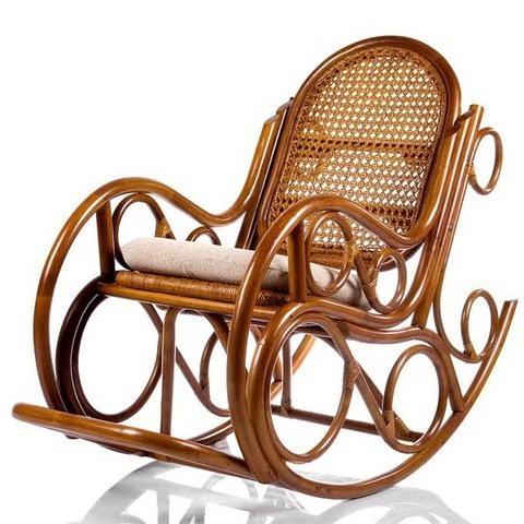 Кресло-качалка NOVO с подушкой (004.001) коньячный