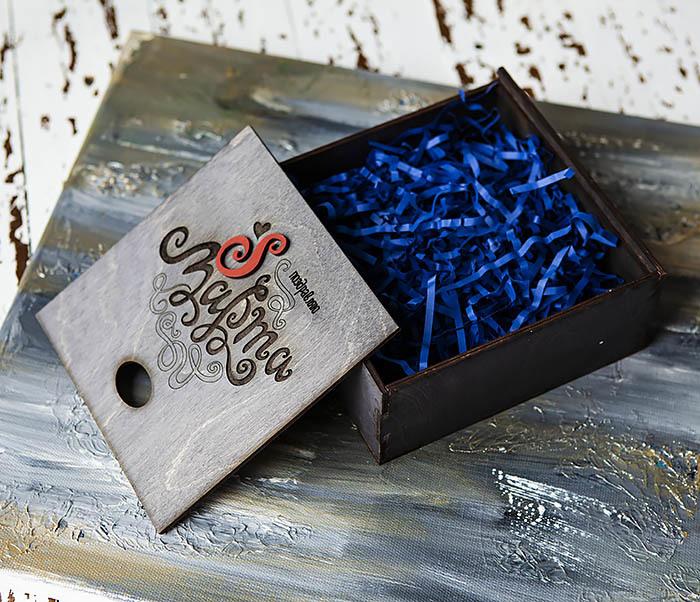 BOX223-1 Подарочная коробка «8 МАРТА» цвета «Эбен» (17*17*7 см) фото 06