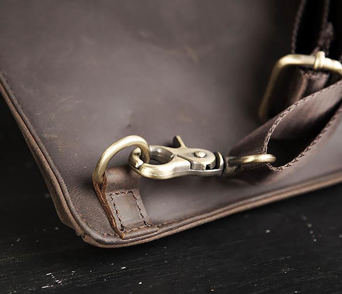 BAG472-2 Кожаная мужская сумка с одной лямкой фото 05
