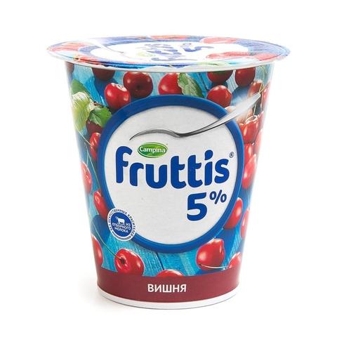 Йогурт FRUTTIS Слив лакомство Вишня 5% 290 гр Campina РОССИЯ