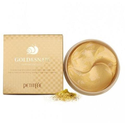 Petitfee Патчи для глаз с золотом и улиткой Gold & Snail Eye Patch 60 шт.