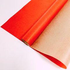Крафт-бумага упаковочная вержированная однотонная Красная / рулон 70 см * 10 м, 40 гр/м.кв