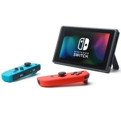 Игровая приставка Nintendo Switch (неоновый красный/неоновый синий)