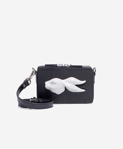 Прямоугольная сумка mini rabbit head black