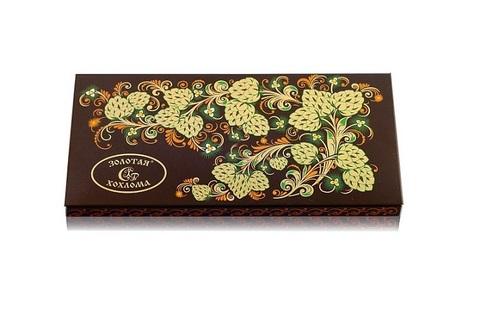 Золотая хохлома с кедровым орехом 100 гр, Саровский шоколад