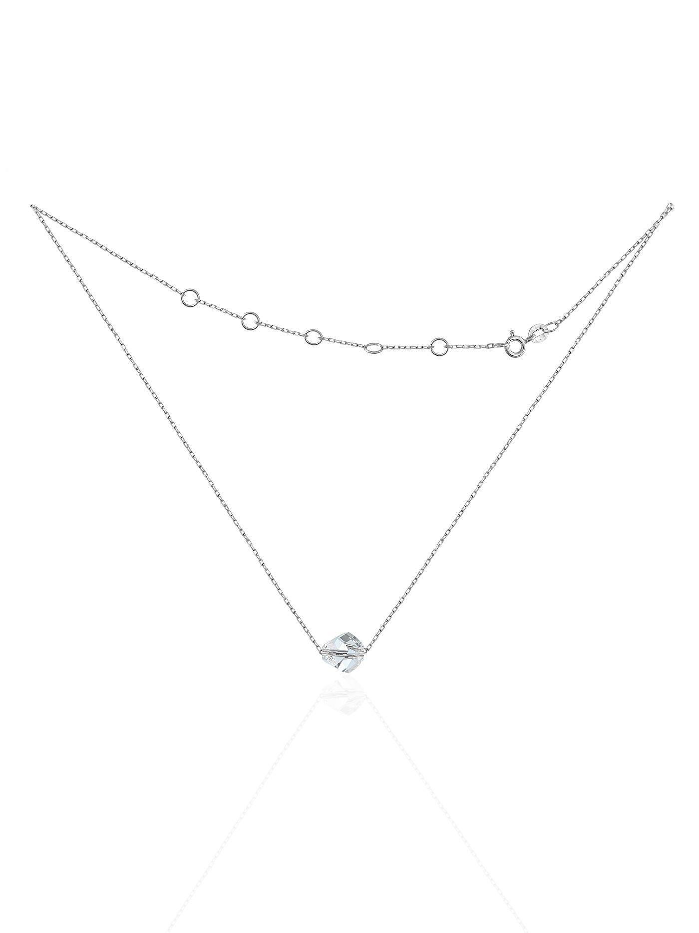 Серебряный чокер с премиум-кристаллом