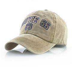 Route 66 бейсболка из денима (Джинсовая кепка Рут 66) бежевая