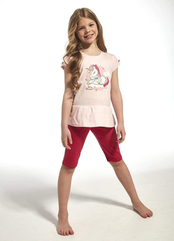 Пижама для девочек с шортами с принтом единорога CORNETTE 241