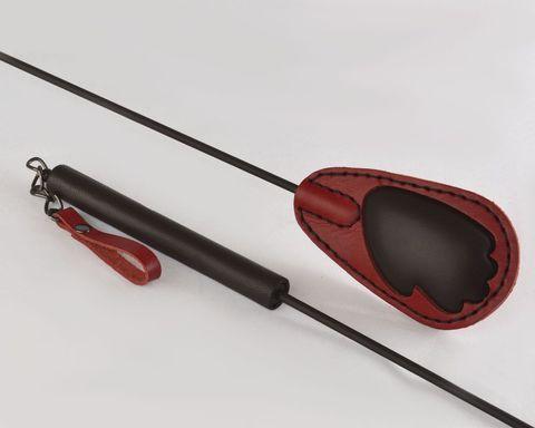 Красно-черный стек  Ладошка  - 65 см.