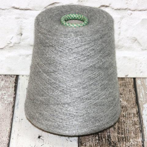 Вспушенный кашемир на шелке 2200 CARIAGGI / SHIVA светло-серый