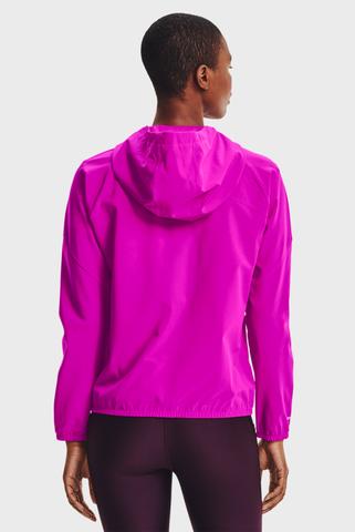 Женское розовое худи Woven Hooded Jacket Under Armour