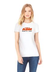 Футболка с принтом KTM (KTM AG) белая w002