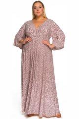Платье пудровое в горошек 228408