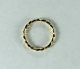 Кольцо витое разъемное, 10x1 мм, позолоченное, 5 шт.