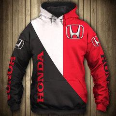 Толстовка утепленная 3D принт, Honda (3Д Теплые Худи Хонда) 02