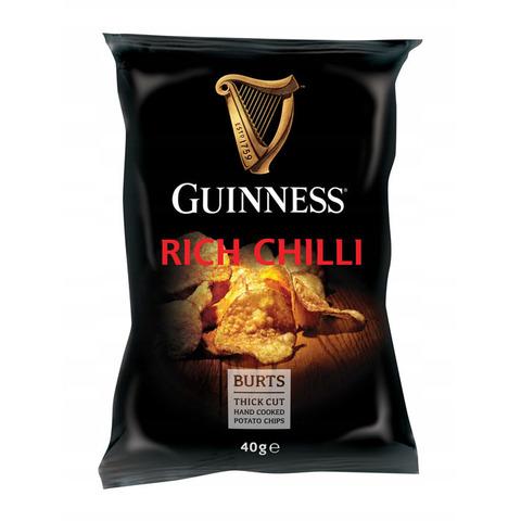 Картофельные чипсы Burts Guinness Rich Chili со вкусом перца чили 42 гр