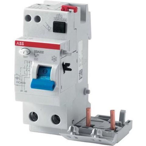 Блок дифференциального тока 2-полюсный 25 A, тип AC, 10 mA DDA202 AC-25/0,01. ABB. 2CSB202001R0250