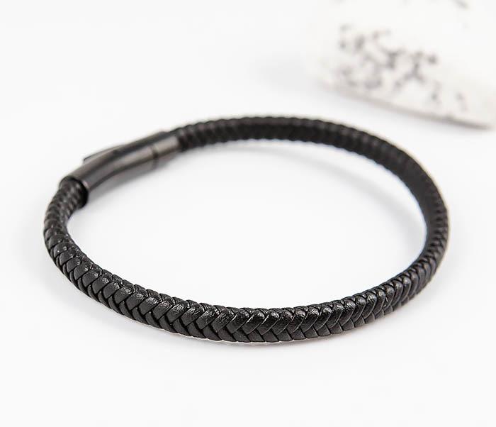 BM529-1 Тонкий мужской браслет из плетеного шнура фото 03
