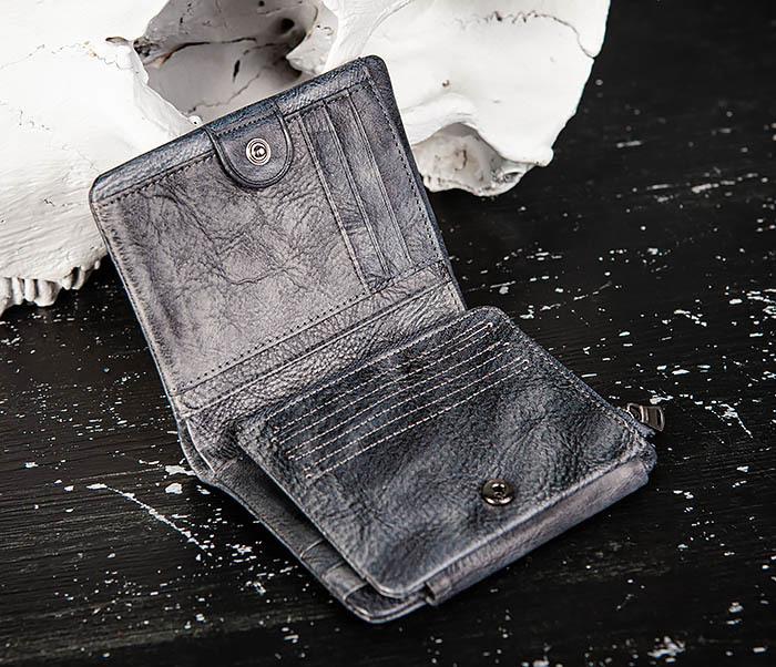 WL329-3 Мужское портмоне из натуральной кожи с монетницей фото 03