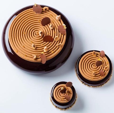 Силиконовая форма для шоколада МЕДАЛЬОН TOURBILLON плоский со спиралью