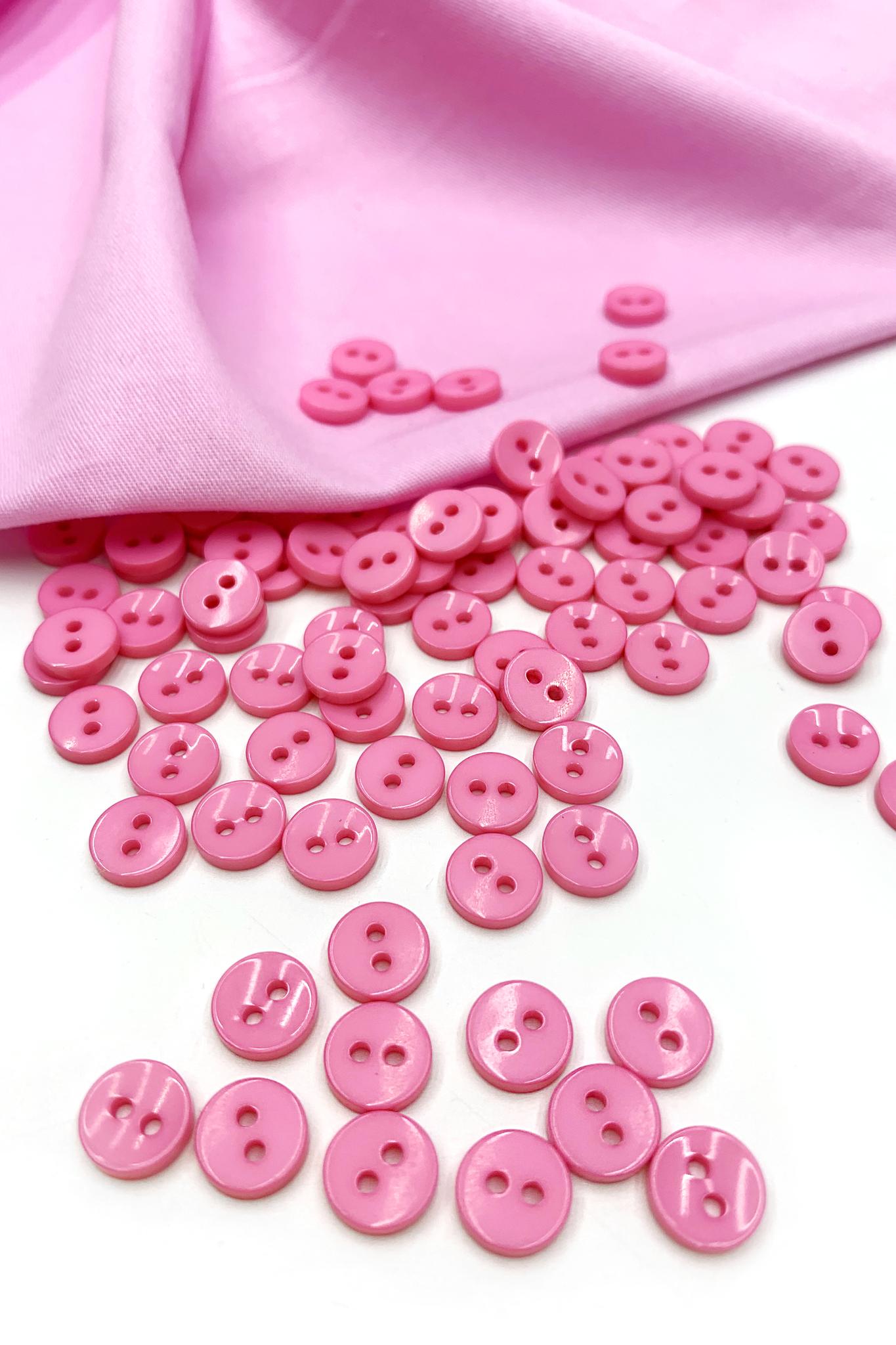 Пуговица,пластик,розовый,8 мм