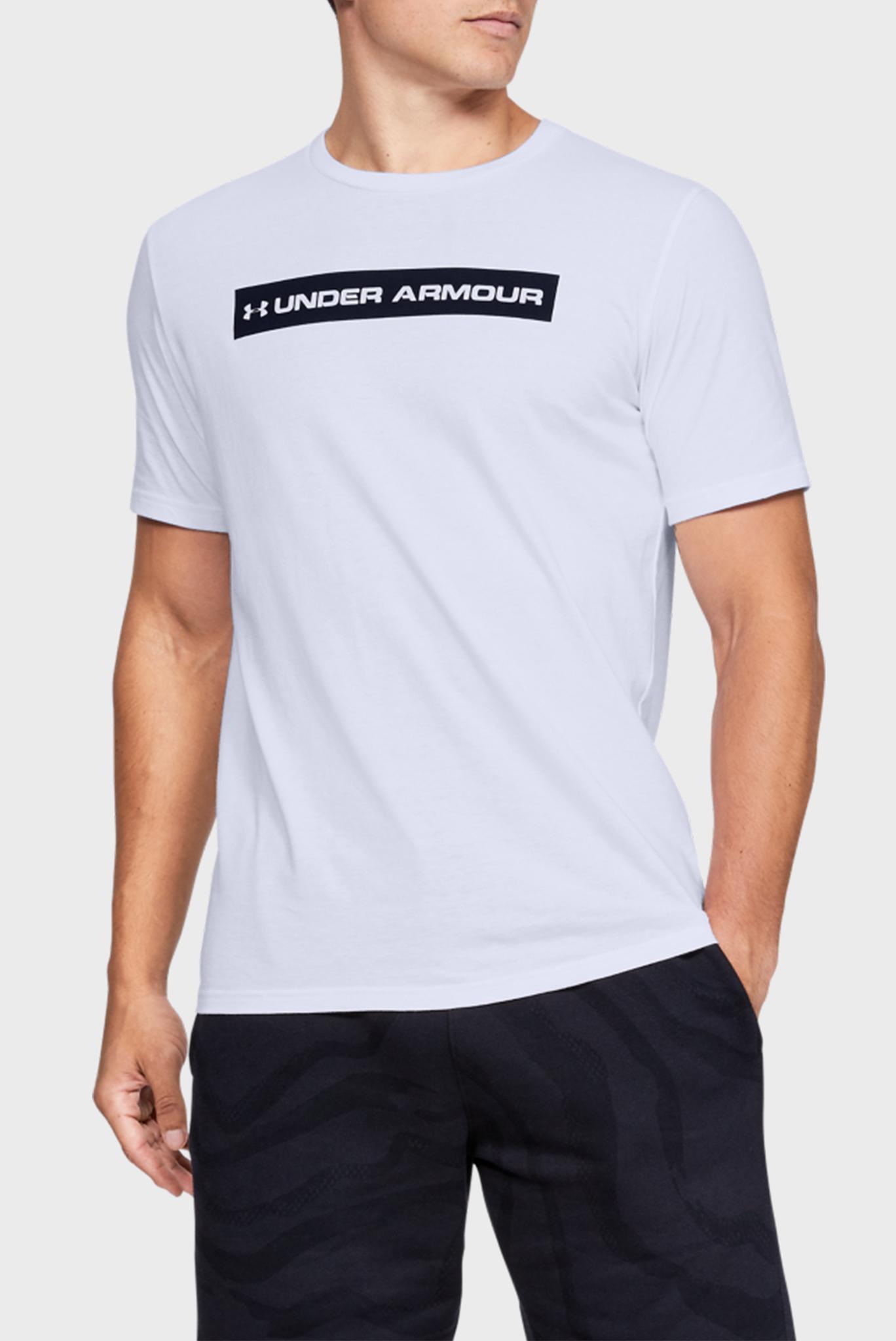 Мужская белая спортивная футболка UA ORIGINATORS BAR SS Under Armour