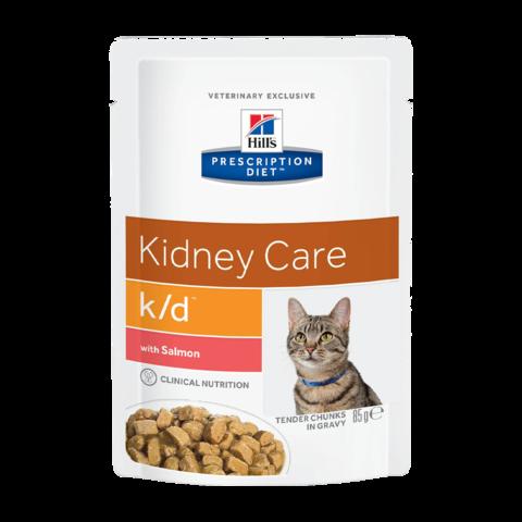 Hill's Prescription Diet K/D Консервы для кошек при заболеваниях почек с лососем (пауч)