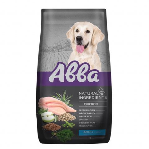 АВВА корм для взрослых собак крупных пород с курицей, 12кг (NEW)