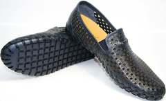 Мужские кожаные летние туфли smart casual Vasari trend Firenze N-1937 2074.