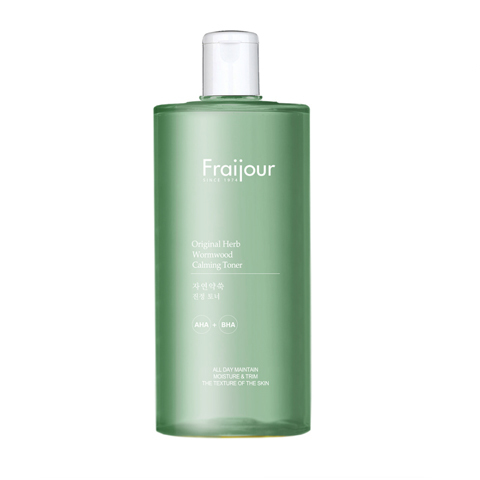 Fraijour Тонер для лица AHA-/BHA-КИСЛОТЫ Original Herb Wormwood Calming Toner, 500 мл