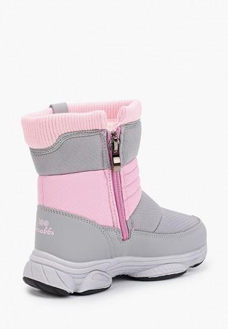 Дутики серо-розовые, зима, Strobbs (Ньютон)