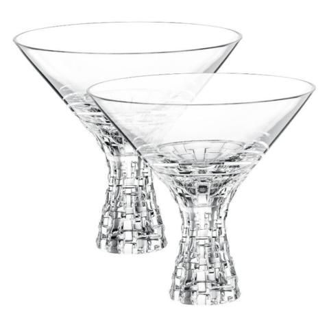 BOSSA NOVA - Набор фужеров 2 шт для мартини 340 мл хрустальное стекло