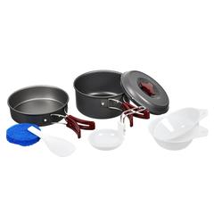 Набор посуды «Туристический» на 1-2 персоны, анодированный алюминий