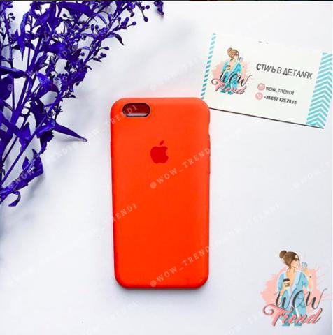 Чехол iPhone 6/6s Silicone Case /orange/ оранжевый original quality