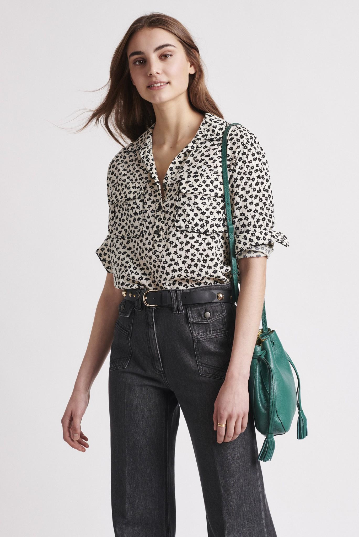 NIKITA - блуза свободного кроя с цветочным принтом