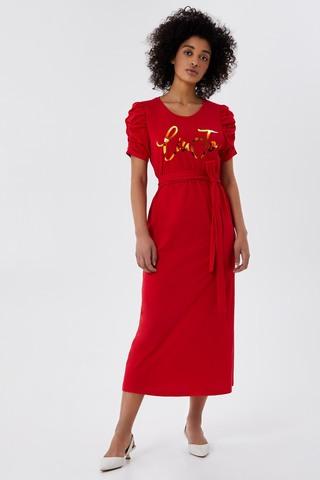 Liu Jo Платье миди с золотистым лого