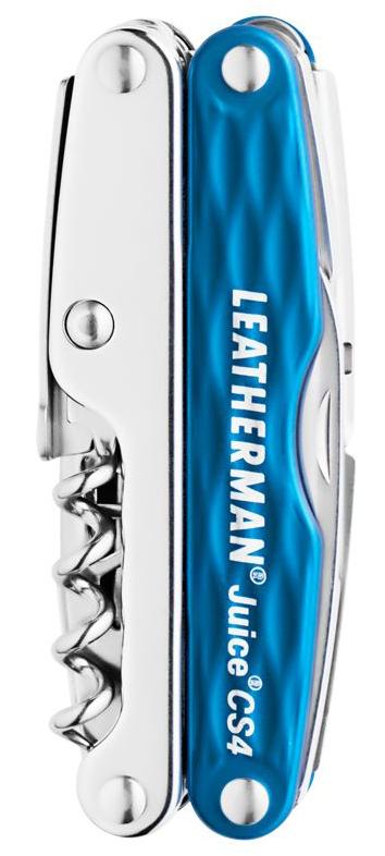 Мультитул Leatherman Juice Cs4, 15 функций, голубой (подарочная упаковка)