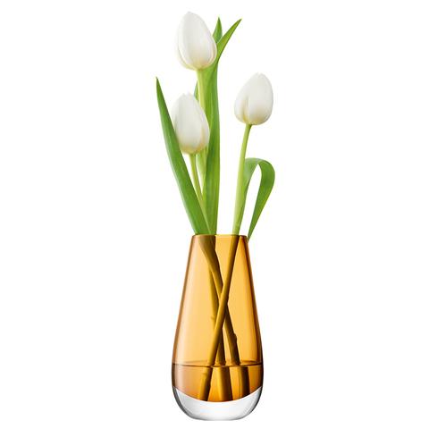 Ваза в форме бутона Flower Colour 14 см охра